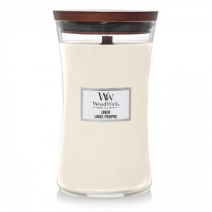 WoodWick Large Candle Linen