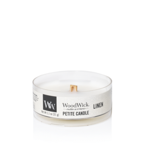 WoodWick Petite Candle Linen