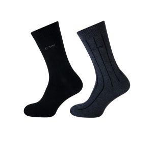 Teckel sokken zwart en grijs 2 paar
