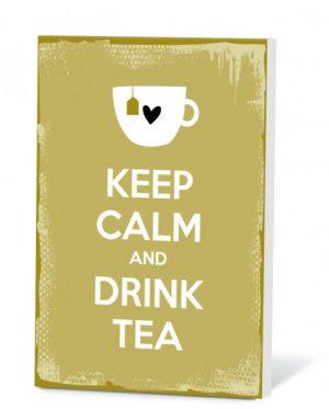 Theekaartje Keep Calm And Drink Tea