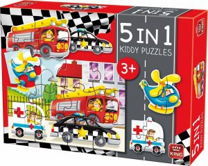 Puzzel Auto's 5 in 1